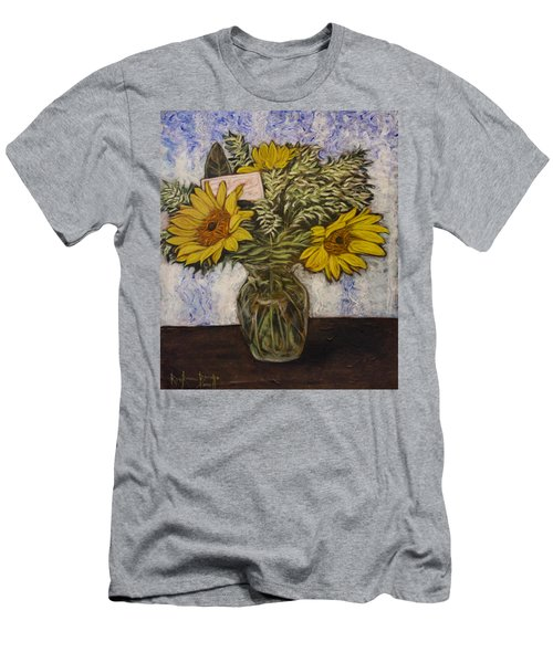 Flowers For Janice Men's T-Shirt (Slim Fit) by Ron Richard Baviello