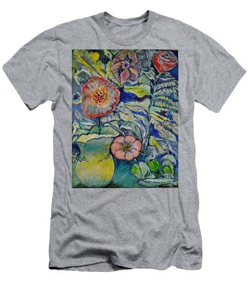 Flowers Gone Wild Men's T-Shirt (Athletic Fit)