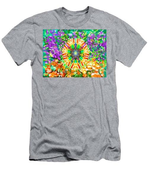 Flowers Mandala Men's T-Shirt (Athletic Fit)