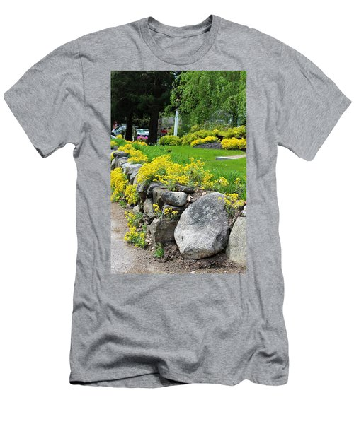 Flowers On The Wall Men's T-Shirt (Athletic Fit)
