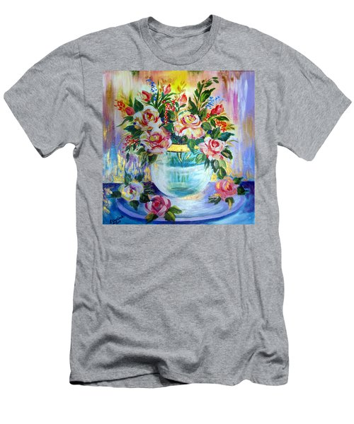 Flowers Still Life  Men's T-Shirt (Slim Fit) by Roberto Gagliardi