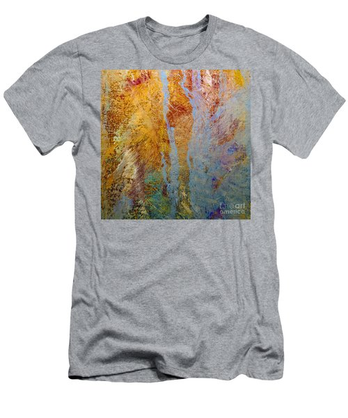 Men's T-Shirt (Slim Fit) featuring the mixed media Fluid by Michael Rock