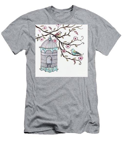 Fly Free Men's T-Shirt (Slim Fit) by Elizabeth Robinette Tyndall