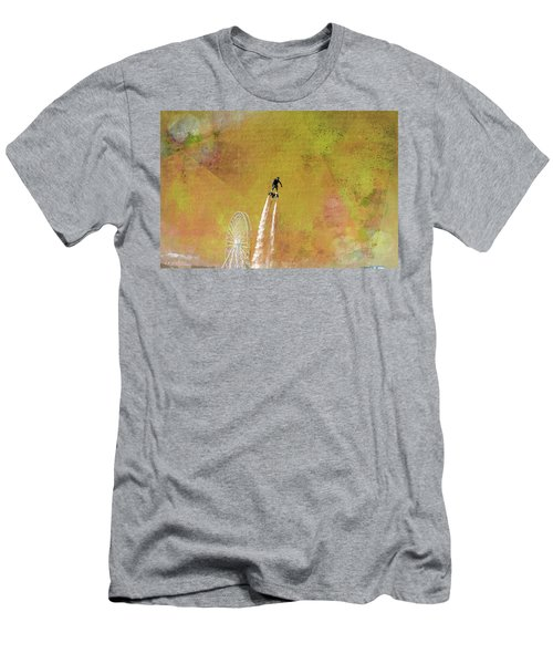 Flyboard, Sketchy And Painterly Men's T-Shirt (Athletic Fit)