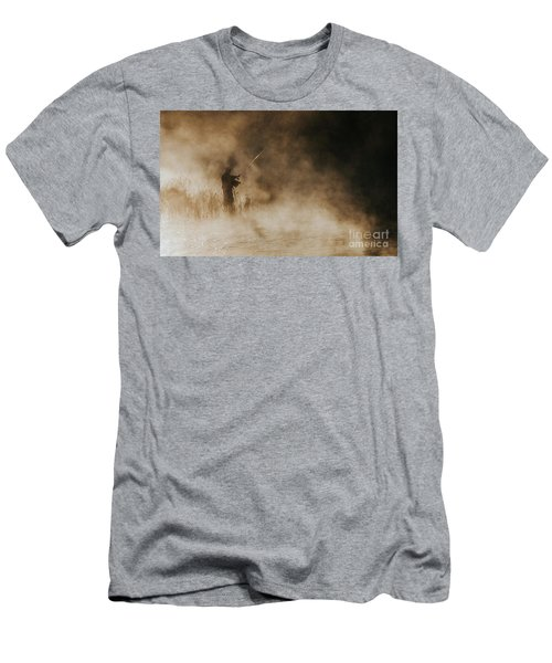 Men's T-Shirt (Slim Fit) featuring the photograph Flying Fishing by Iris Greenwell