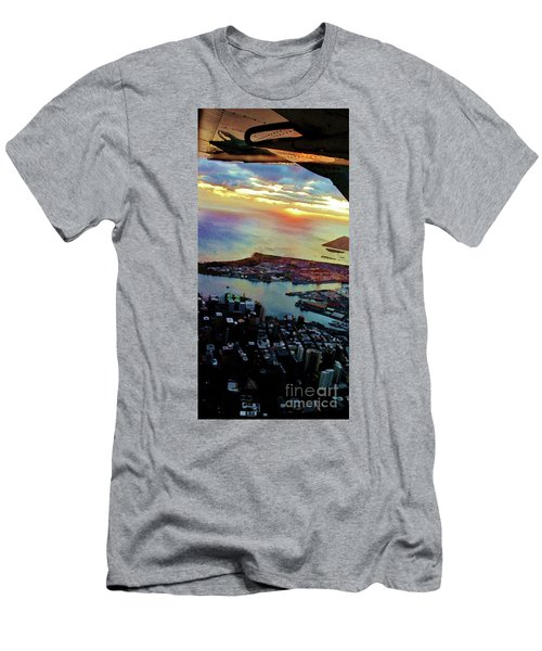 Men's T-Shirt (Slim Fit) featuring the photograph Flying Into Honolulu II by Craig Wood