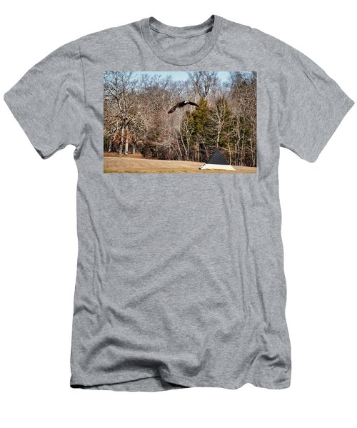 Flying Over Cloud Field Men's T-Shirt (Athletic Fit)