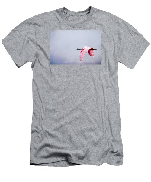 Flying Pretty - Roseate Spoonbill Men's T-Shirt (Athletic Fit)