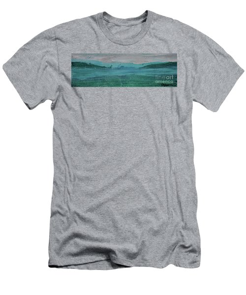 Men's T-Shirt (Athletic Fit) featuring the painting Fog In The Bay by Kim Nelson