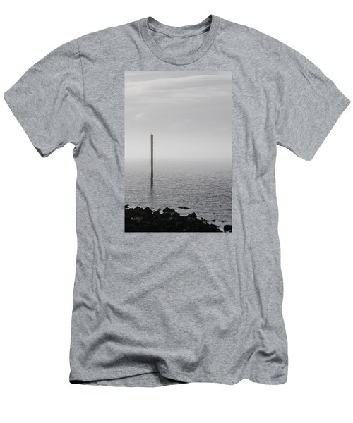 Men's T-Shirt (Athletic Fit) featuring the photograph Fog On The Cape Fear River On Christmas Day 2015 by Willard Killough III