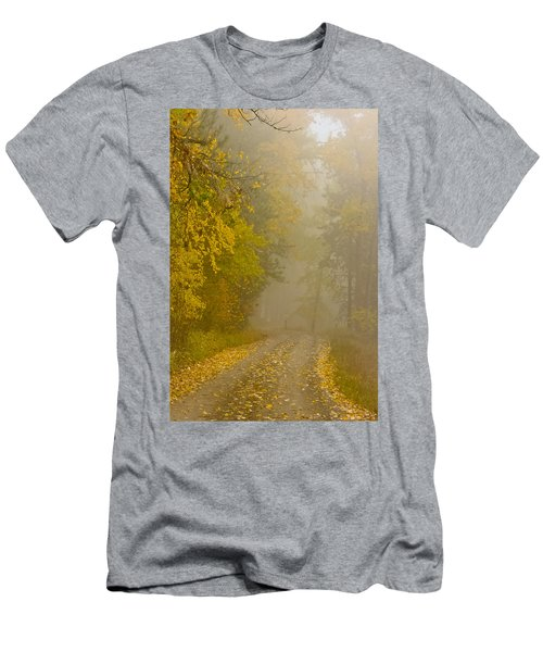 Foggy Autumn Morn Men's T-Shirt (Athletic Fit)