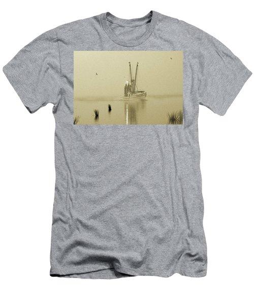 Foggy Evening Catch Men's T-Shirt (Slim Fit) by Deborah Smith
