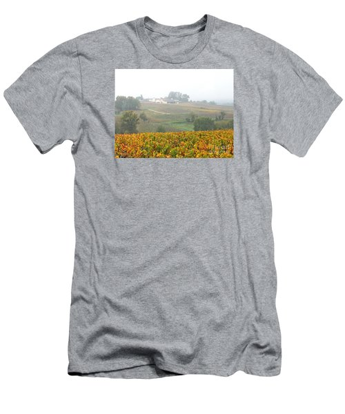 Foggy French Vineyard Men's T-Shirt (Athletic Fit)
