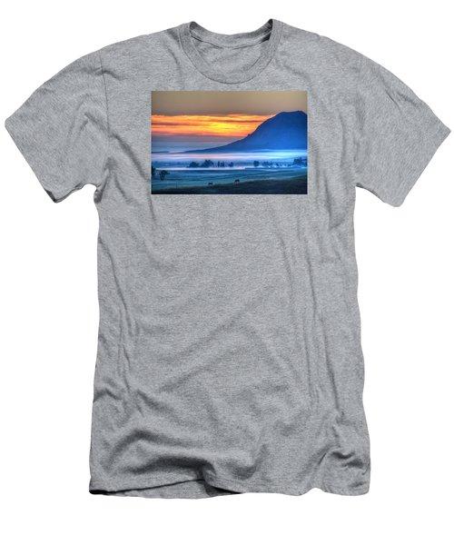Foggy Morning Men's T-Shirt (Slim Fit) by Fiskr Larsen