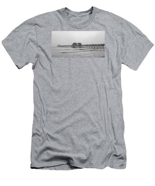 Foggy Pier Men's T-Shirt (Slim Fit) by Sean Allen
