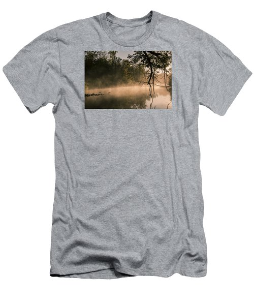 Foggy Water Men's T-Shirt (Slim Fit) by Annette Berglund