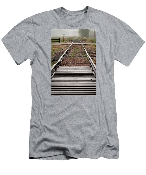 Men's T-Shirt (Slim Fit) featuring the photograph Following The Tracks by Monte Stevens