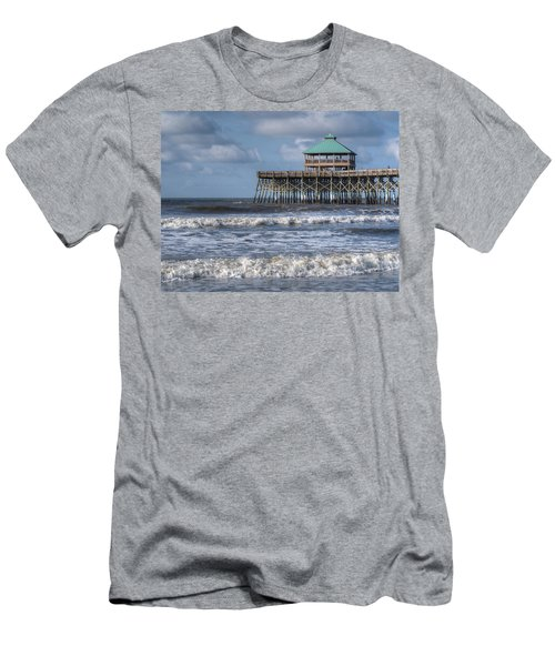Men's T-Shirt (Athletic Fit) featuring the photograph Folly Beach Pier by Michael Colgate