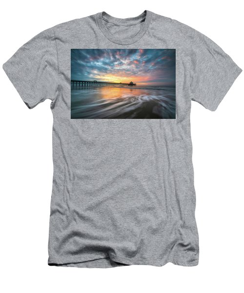 Folly Beach Sc Ocean Seascape Charleston South Carolina Scenic Landscape Men's T-Shirt (Athletic Fit)