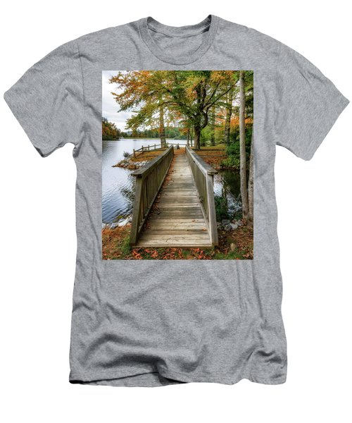 Foot Bridge At Linville Land Harbor Men's T-Shirt (Athletic Fit)