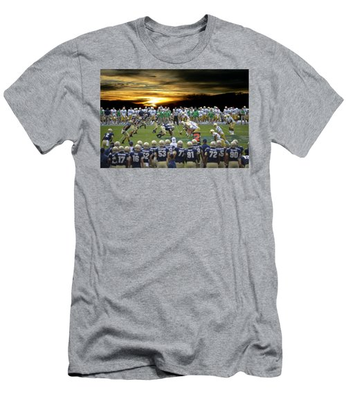 Football Field-notre Dame-navy Men's T-Shirt (Athletic Fit)