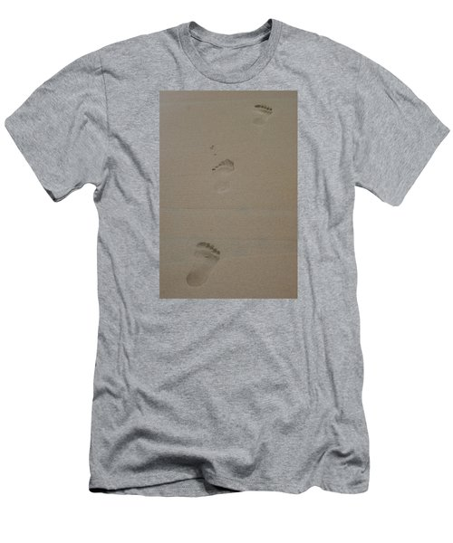 Men's T-Shirt (Slim Fit) featuring the photograph Footprint by Heidi Poulin