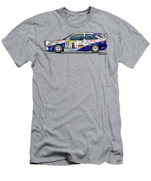 Ford Escort Mk5 Rs Cosworth Group A Rally Monte Carlo 1994 Men's T-Shirt (Athletic Fit)