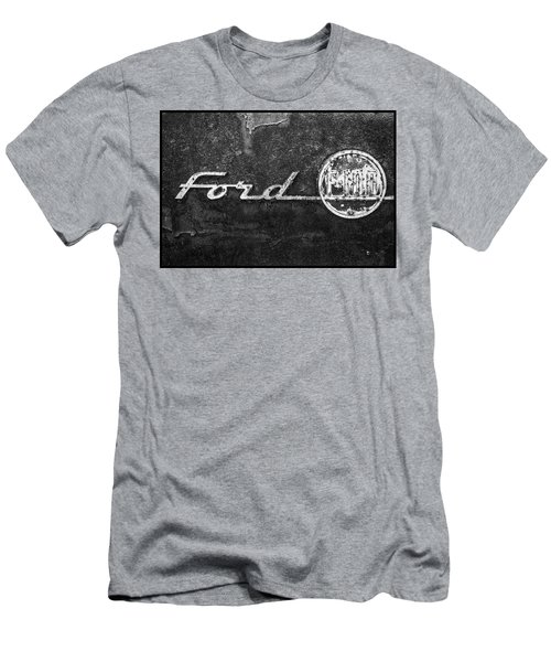 Ford F-100 Emblem On A Rusted Hood Men's T-Shirt (Athletic Fit)
