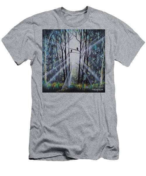 Forest Birds Men's T-Shirt (Athletic Fit)