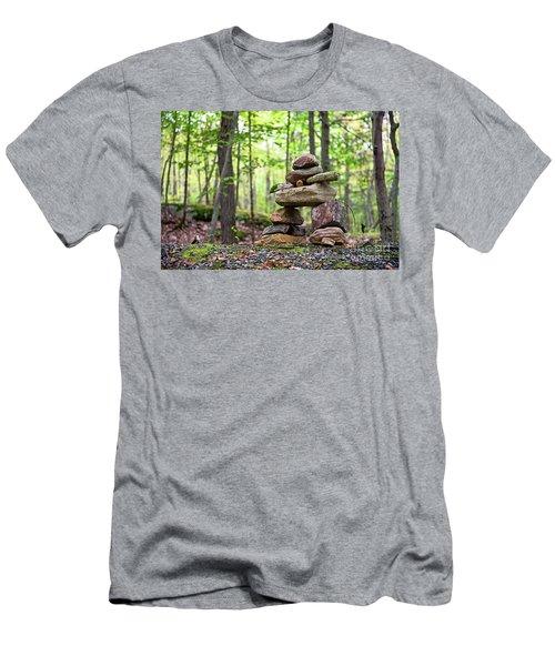 Forest Inukshuk Men's T-Shirt (Athletic Fit)