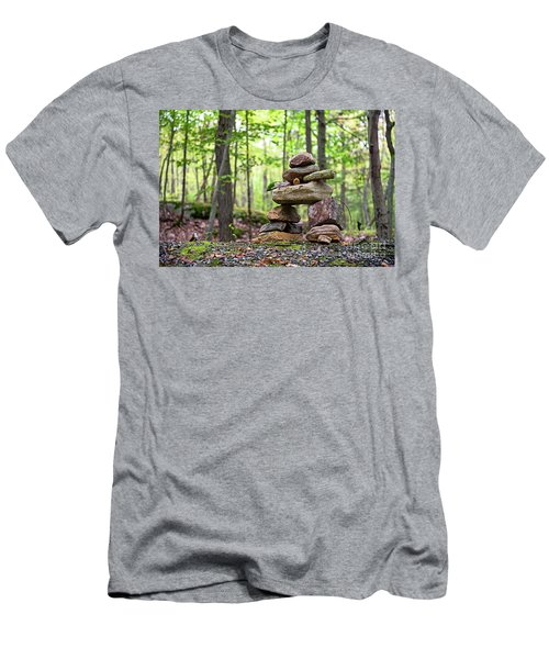 Forest Inukshuk Men's T-Shirt (Athletic Fit)
