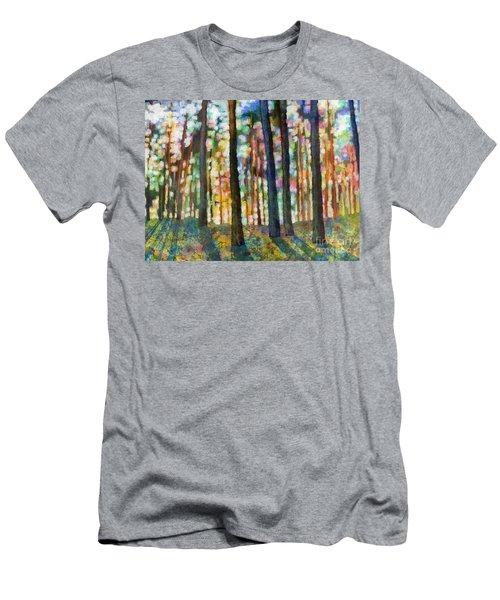 Men's T-Shirt (Slim Fit) featuring the painting Forest Light by Hailey E Herrera
