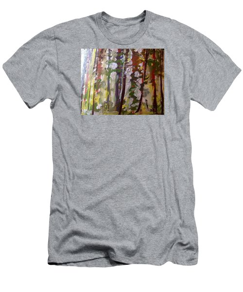 Forest Meeting Men's T-Shirt (Slim Fit) by Judith Desrosiers