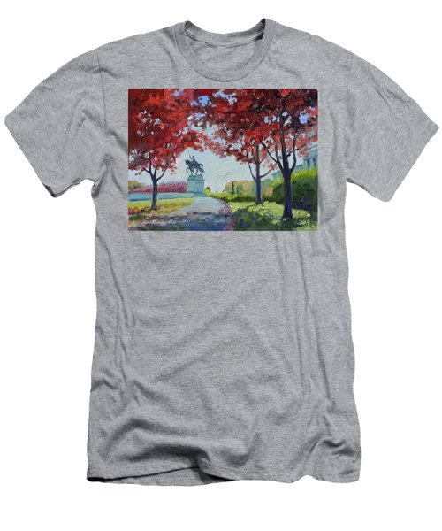 Forest Park Autumn Colors Men's T-Shirt (Athletic Fit)