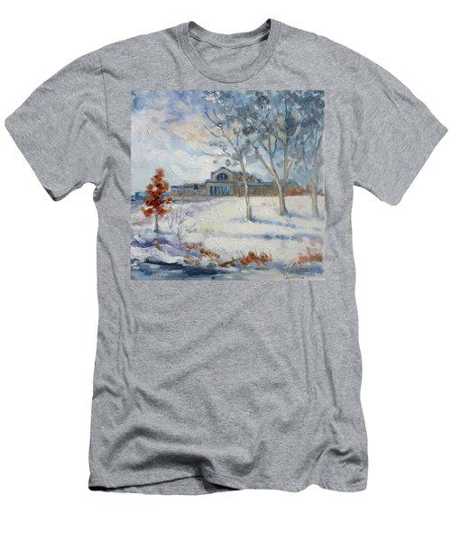 Forest Park Winter Men's T-Shirt (Slim Fit) by Irek Szelag