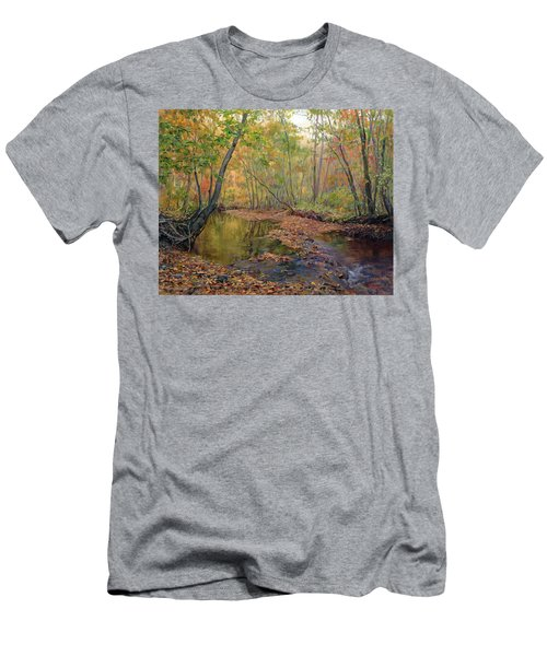 Forest River In Early Fall Men's T-Shirt (Athletic Fit)
