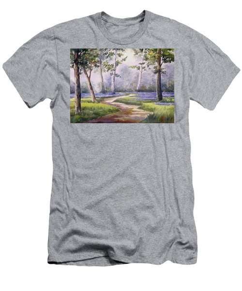 Men's T-Shirt (Slim Fit) featuring the painting Forest  by Samiran Sarkar