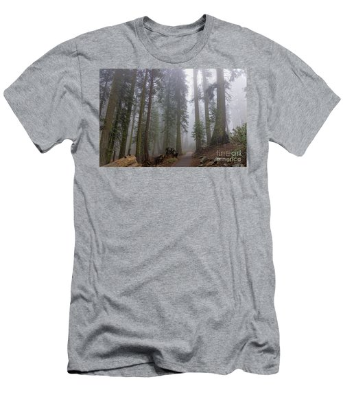 Men's T-Shirt (Athletic Fit) featuring the photograph Forest Walking Path by Peggy Hughes