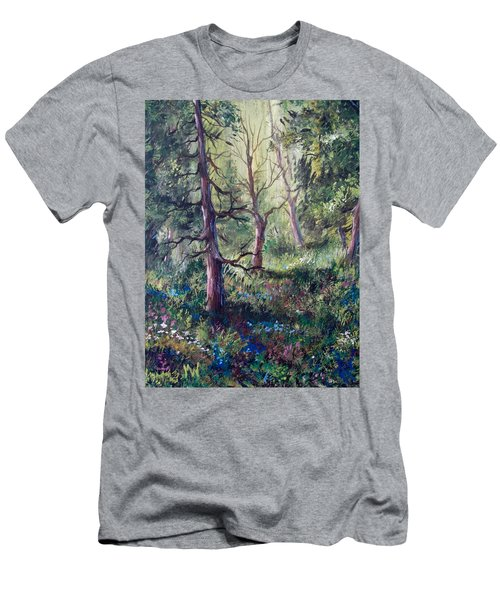 Forest Wildflowers Men's T-Shirt (Slim Fit) by Megan Walsh