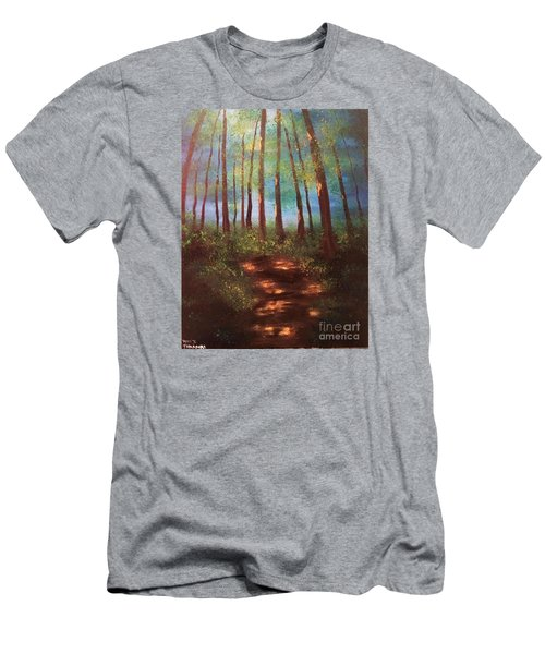 Men's T-Shirt (Slim Fit) featuring the painting Forests Glow by Denise Tomasura