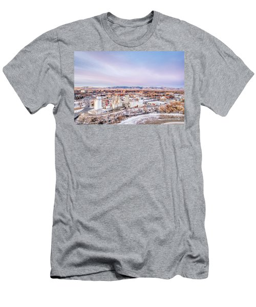 Fort Collins Aeiral Cityscape Men's T-Shirt (Athletic Fit)