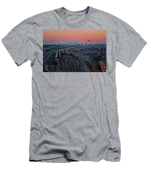 Fort Worth Trainyards Men's T-Shirt (Athletic Fit)