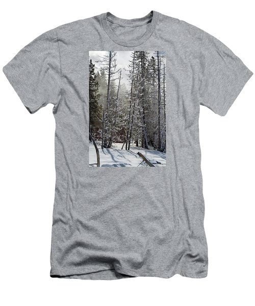 Fountain Paint Pots Shrouded In Snow And Ice Men's T-Shirt (Athletic Fit)