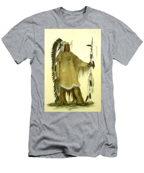 Four Bears Mandan Chief 1833 Men's T-Shirt (Athletic Fit)
