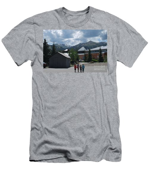 Four Little Children Safe In A Big Beautiful World Telluride Colorado Men's T-Shirt (Athletic Fit)