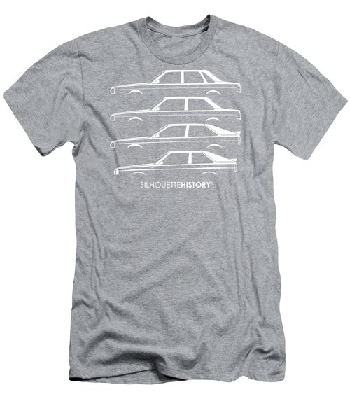Four Ring Bee Too Silhouettehistory Men's T-Shirt (Athletic Fit)