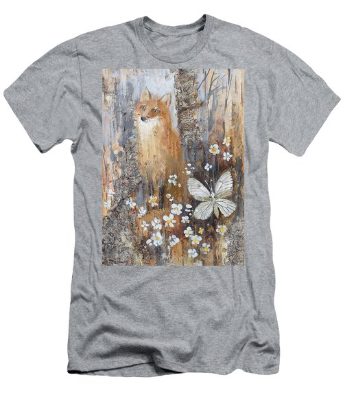 Fox And Butterfly Men's T-Shirt (Athletic Fit)