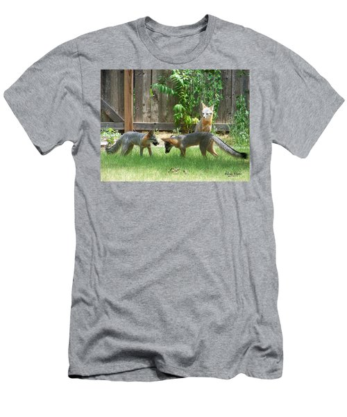 Men's T-Shirt (Athletic Fit) featuring the photograph Fox Family by Deleas Kilgore