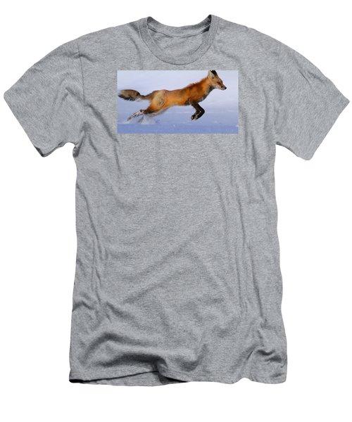 Fox On The Run Men's T-Shirt (Slim Fit) by Paul Marto