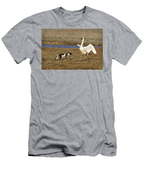 Fox Vs Swan Men's T-Shirt (Athletic Fit)